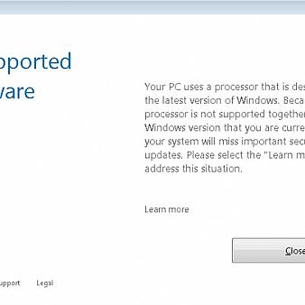 强迫用户升Win10?旧版Windows放弃对新CPU更新支持-移动搜索