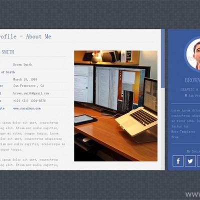 html5响应式单页个人博客网站模板下载