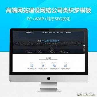 高端网站建设网络设计互联网信息化服务类网站织梦模板(带手机端)