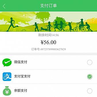 手机订单支付方式选择页面模板