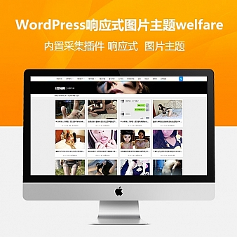 WordPress响应式福利图片主题welfare 带火车头采集+整站数据