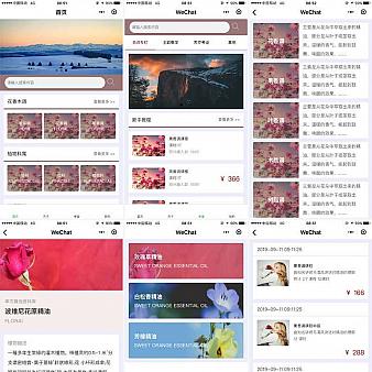 植物香精学堂小程序网页模板