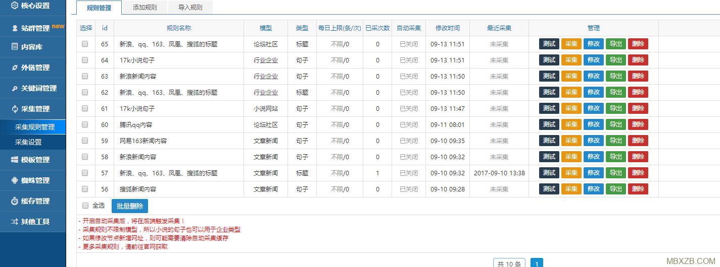 小霸王SEO站群v6.3最新蜘蛛池自带多套模板,免授权,无限制,可永久使用
