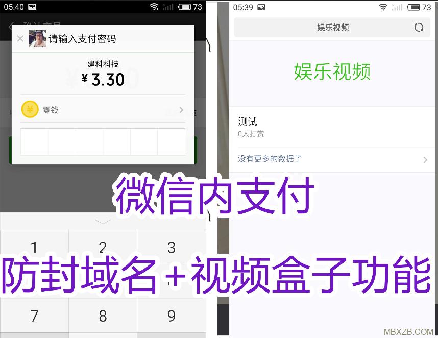视频打赏平台最新源码,主副域名防封,已对接个人免签支付