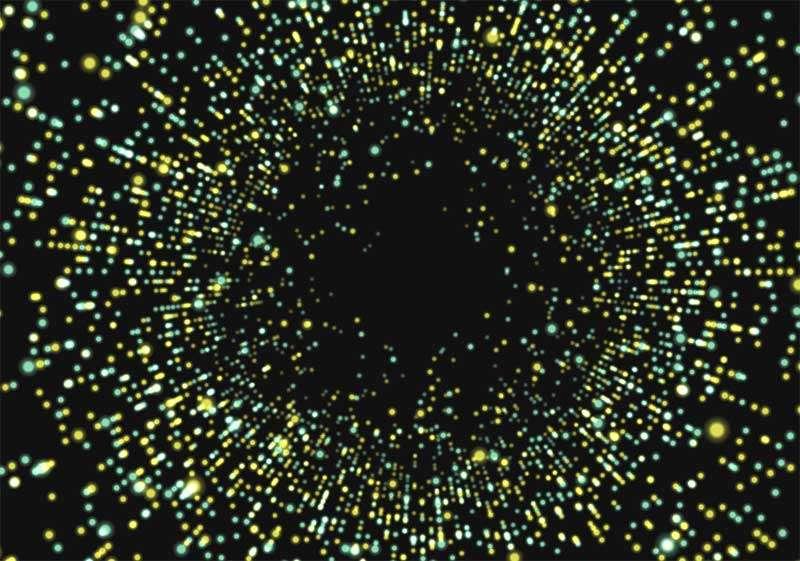 html5 3D粒子时光隧道动效