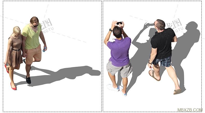 A568 配景人物小清新插画风建筑景观室内效果图ai矢量psd后期素材