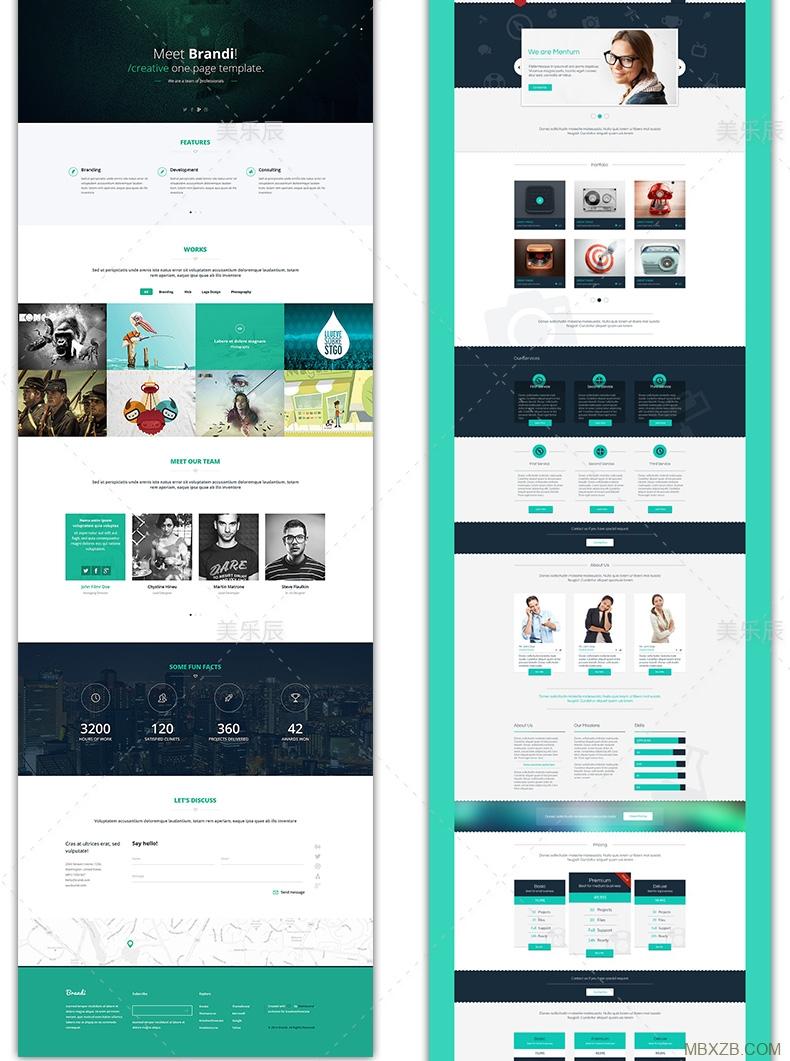 F466 网页网站模板 CSS动态模板个人主页PSD模板HTML模板设计素材