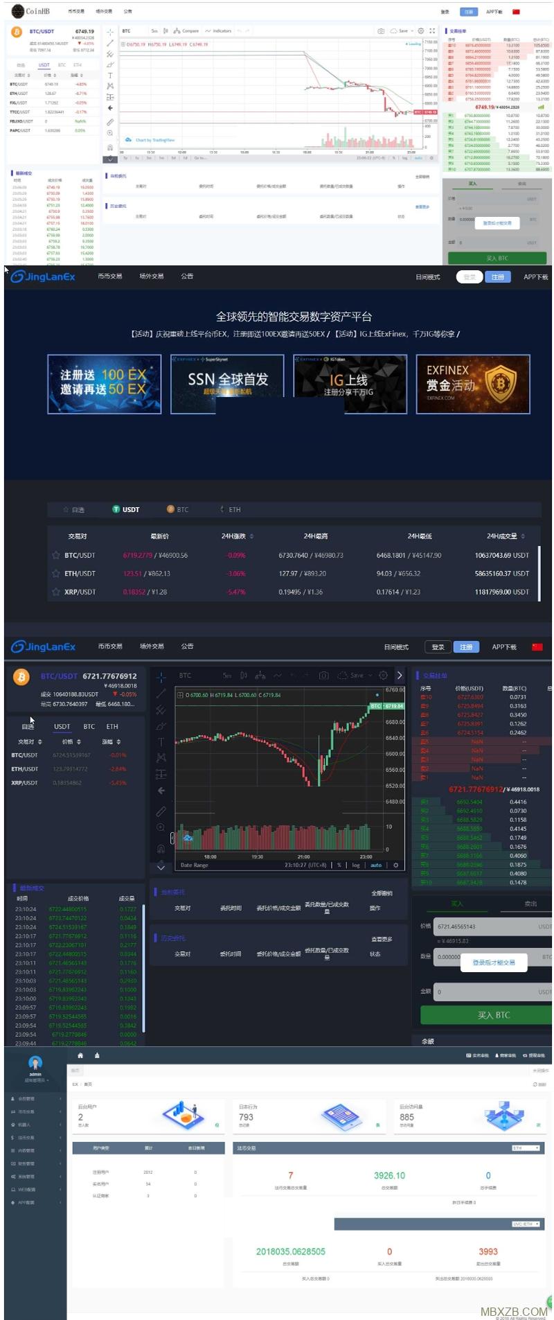 景蓝区块链交易所源码,全新版BTC/OTC/币币交易带充值与钱包系统